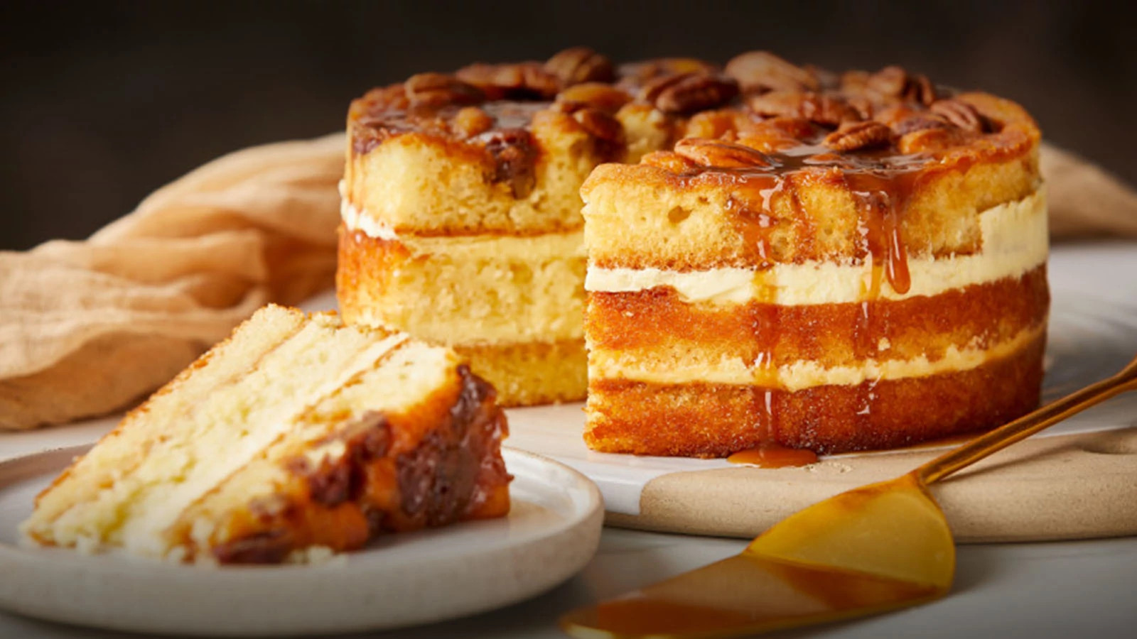 Brown Butter Praline Cake